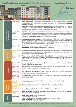 Agenda du week-end - Office de Tourisme de Honfleur