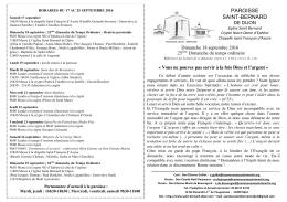 Bulletin - Paroisse Saint Bernard de Dijon
