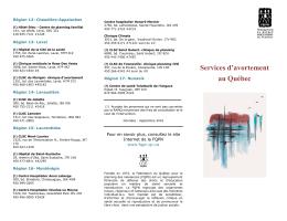 Services d`avortement au Québec - Fédération du Québec pour le