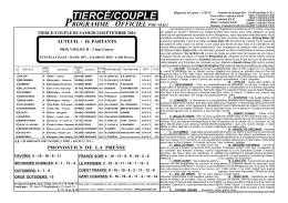 tiercé/couple