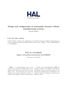 Design and configuration of sustainable dynamic cellular - Tel
