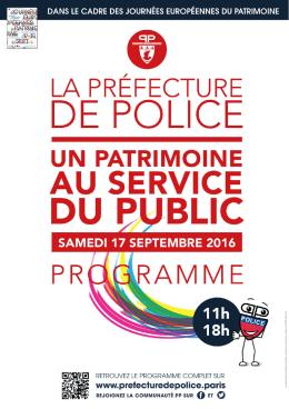 Téléchargez le programme - La préfecture de Police