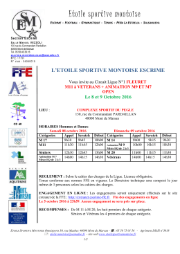 Circuit ligue Mont de Marsan 8/9 octobre