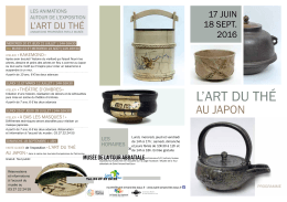 L`ART DU THÉ - Ville de Saint-Amand-les-Eaux