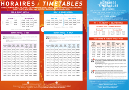horaires - Magical Shuttle