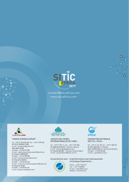 Brochure - Sitic africa 2016