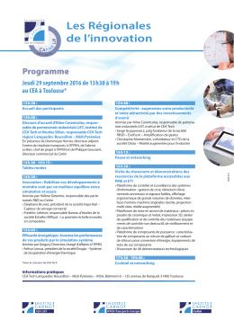 Programme détaillé