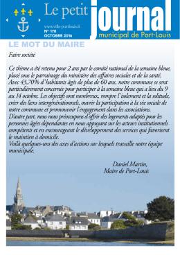 le mot du maire - Port-Louis - Ville de Port