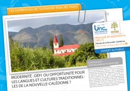 Affiche de la conférence - Université de la Nouvelle