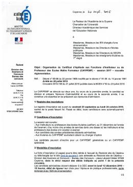CAFIPEMF 2017 - Académie de Guyane