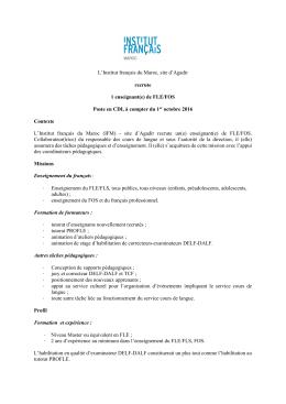 Document - Institut Français Maroc