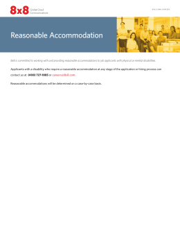 Reasonable Accommodation - 8x8 Support Knowledge Base