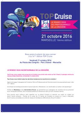 Flyer TOP Cruise 2016 - Club de la Croisière Marseille Provence