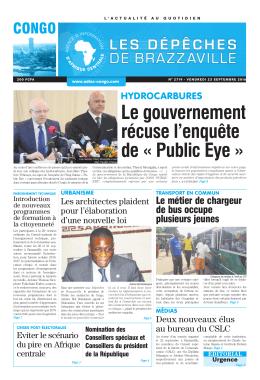 Le gouvernement récuse l`enquête de « Public Eye
