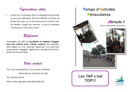 Animations TAP 1ere période - Lully - Saint-Georges-sur