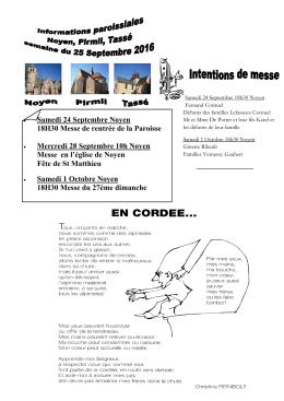 Noyen - Paroisses Sablé 72
