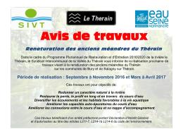 Renaturation des anciens méandres du Thérain