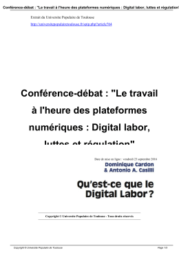 Enregistrer au format PDF - Universite Populaire de Toulouse