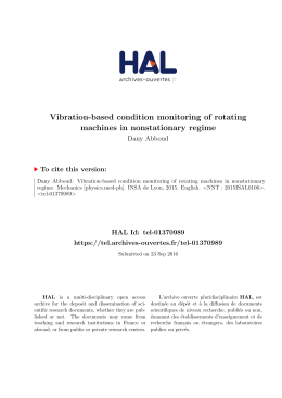 Vibration-based condition monitoring of rotating machines in