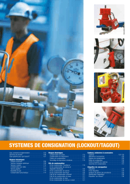 SYSTEMES DE CONSIGNATION (LOCKOUT/TAGOUT)