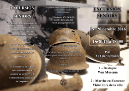 Excursion Seniors (20 octobre 2016)