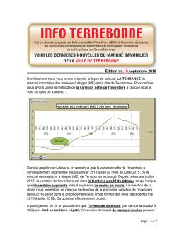 Édition du 19 septembre 2016 - Info Immobilier Rive-Nord