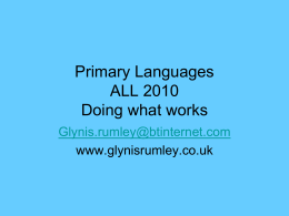 Songs and games for Primary Languages