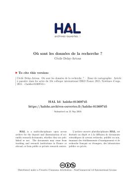 Où sont les données de la recherche - Hal-SHS