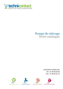 Pompe de relevage Notre catalogue - Techni
