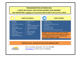 Post-inscriptions Automne 2016 #2B