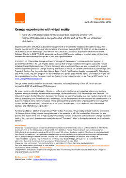 Orange experiments with virtual reality