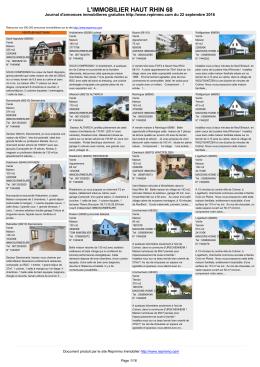 Journal immobilier Haut rhin