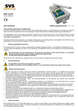 SHT-12 FS - SVS Nachrichtentechnik