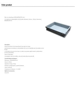 Bac en plastique 600x400x120 mm - Techni