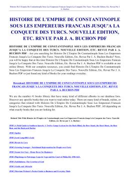histoire de l`empire de constantinople sous les empereurs francais
