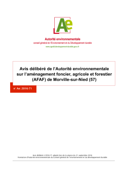 (AFAF) de Morville-sur-Nied (57)