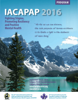 the IACAPAP 2016 Congress Program