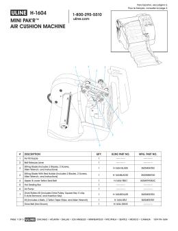 π H-1604 MINI PAK`R™ AIR CUSHION MACHINE
