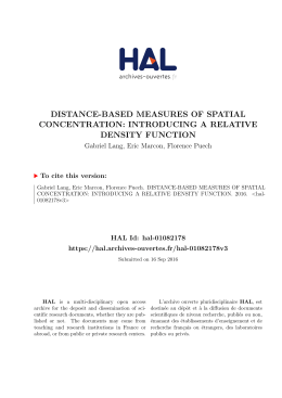 distance-based measures of spatial concentration - Hal-SHS