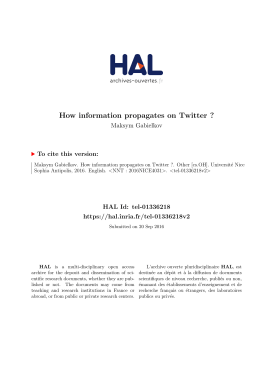 How information propagates on Twitter