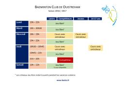 ici - Badminton Club de Ouistreham