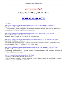 gopro user manual pdf