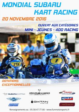 mondial subaru kart racing