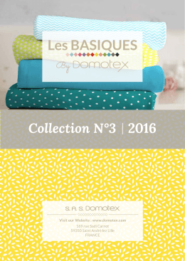 Collection N°3 2016