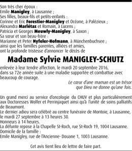 Madame Sylvie MANIGLEY-SCHUTZ