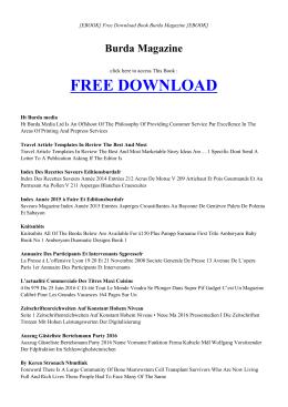 [ebook] burda magazine