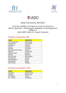 Concours IADO 2016