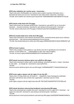 Le Vase Dor - qrazmi.tk ~ BIG Cloud PDF Books