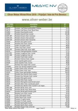 Oliver Weber Winter/Hiver 2016