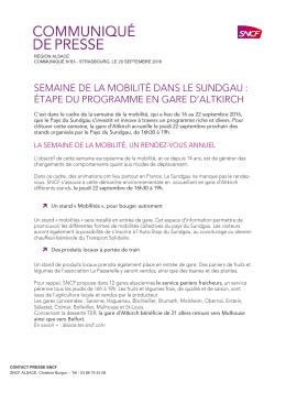 région alsace communiqué n°63 - strasbourg, le 20 septembre 2016